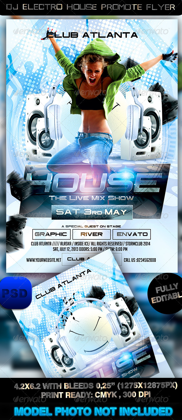 Dj Electro House Promote Flyer - Events Flyers