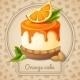 Orange Cake Emblem - GraphicRiver Item for Sale