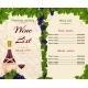 Wine List Template - GraphicRiver Item for Sale