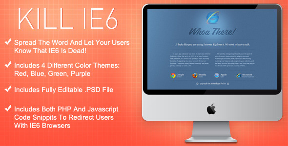 Free Download Kill IE6 Template Nulled Latest Version