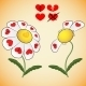 Divination on Daisy of Love with Hearts - GraphicRiver Item for Sale
