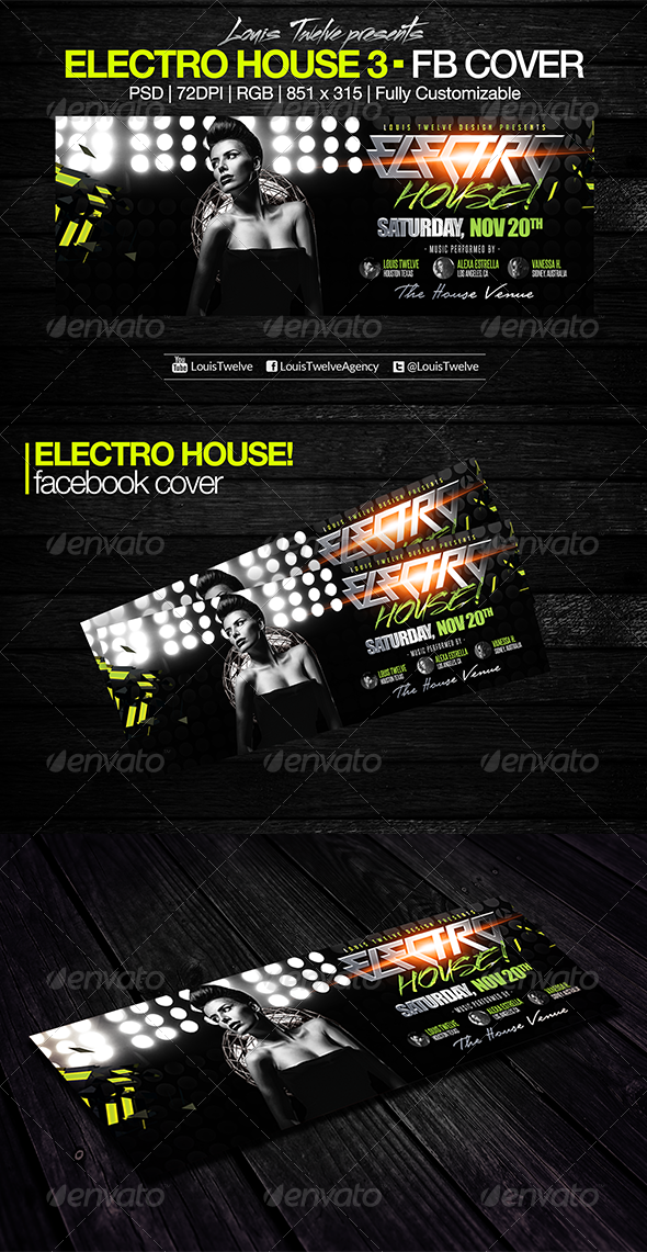Electro House 3 | Facebook Cover - Facebook Timeline Covers Social Media