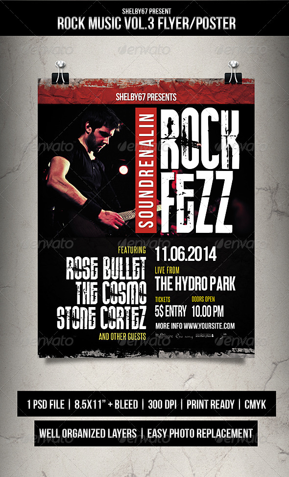Rock Music Flyer / Poster Vol.3 - Events Flyers