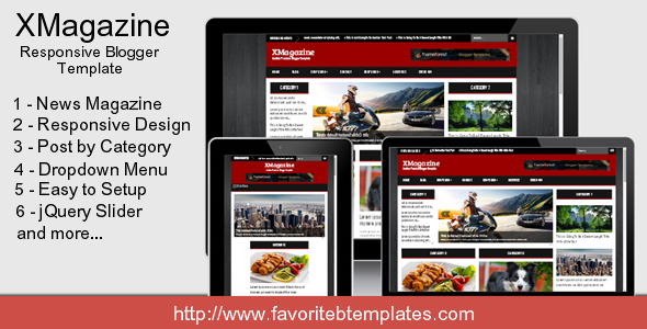 XMagazine - Responsive Blogger Template