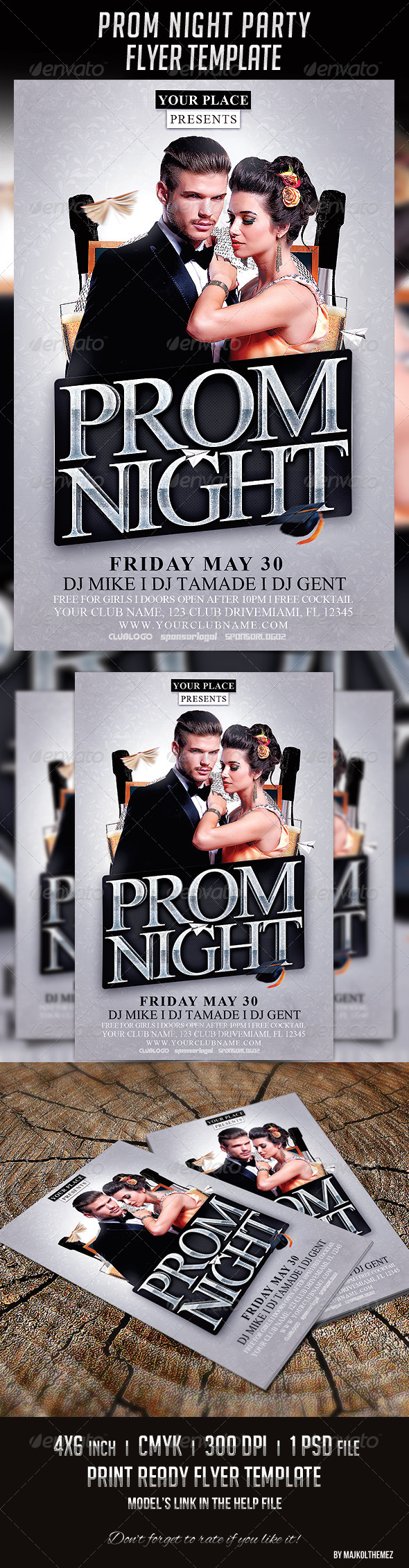 Prom Night Party Flyer Template - Events Flyers