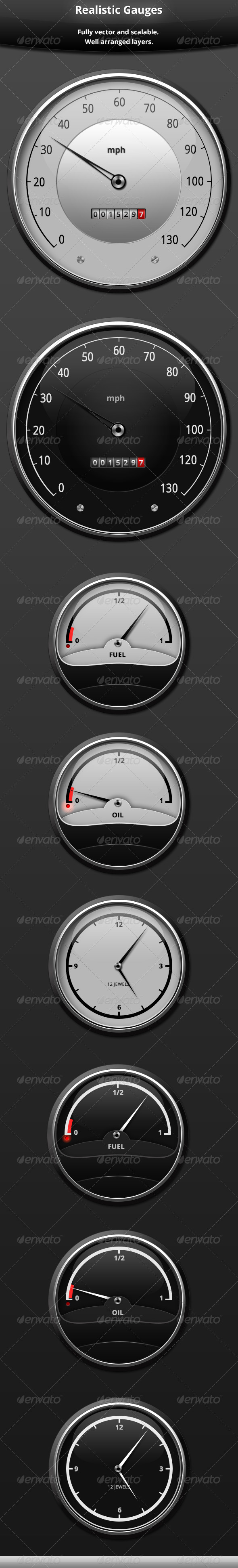 Realistic Gauges - Technology Isolated Objects