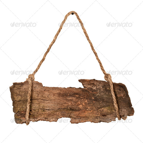 Wooden sign - Stock Photo - Images