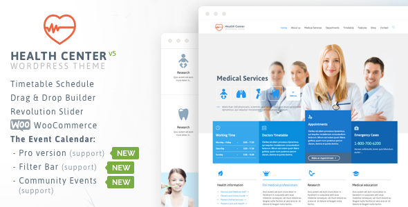 Health Medical Center – Responsive Theme