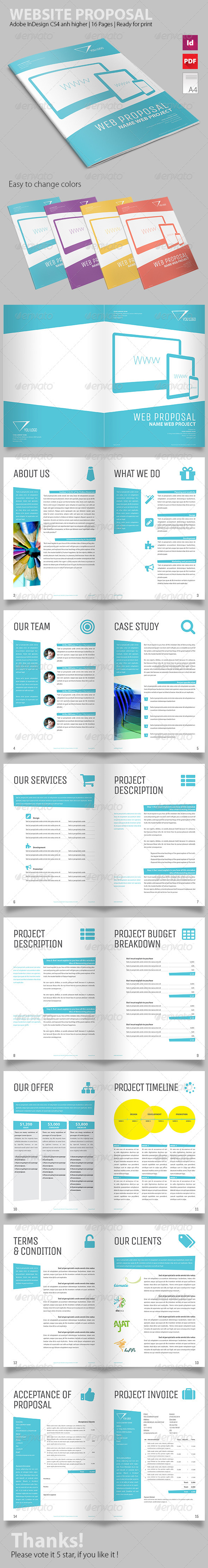 Triangle Proposal Template - Proposals & Invoices Stationery