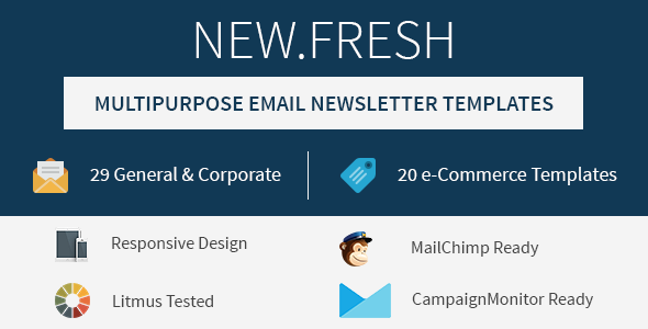 New.Fresh – Responsive email newsletter templates