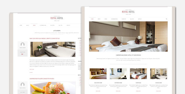Royal – Hotel and Resort WordPress Theme