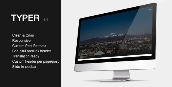 Typer – Striking Blogging Theme