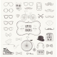 Hipster Retro Vintage Doodle Icon Set - GraphicRiver Item for Sale