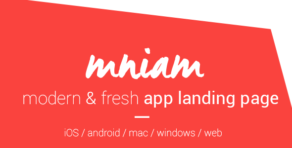 Mniam – Modern & Fresh App Landing Page - Apps Technology