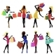 Shopping Girl Silhouettes - GraphicRiver Item for Sale