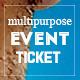 Elegant multipurpose event ticket - GraphicRiver Item for Sale