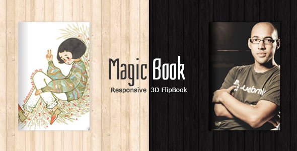 MagicBook – 3D Responsive Flip Book HTML Theme