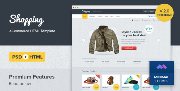20 Best HTML Online Store Templates  for April 2019