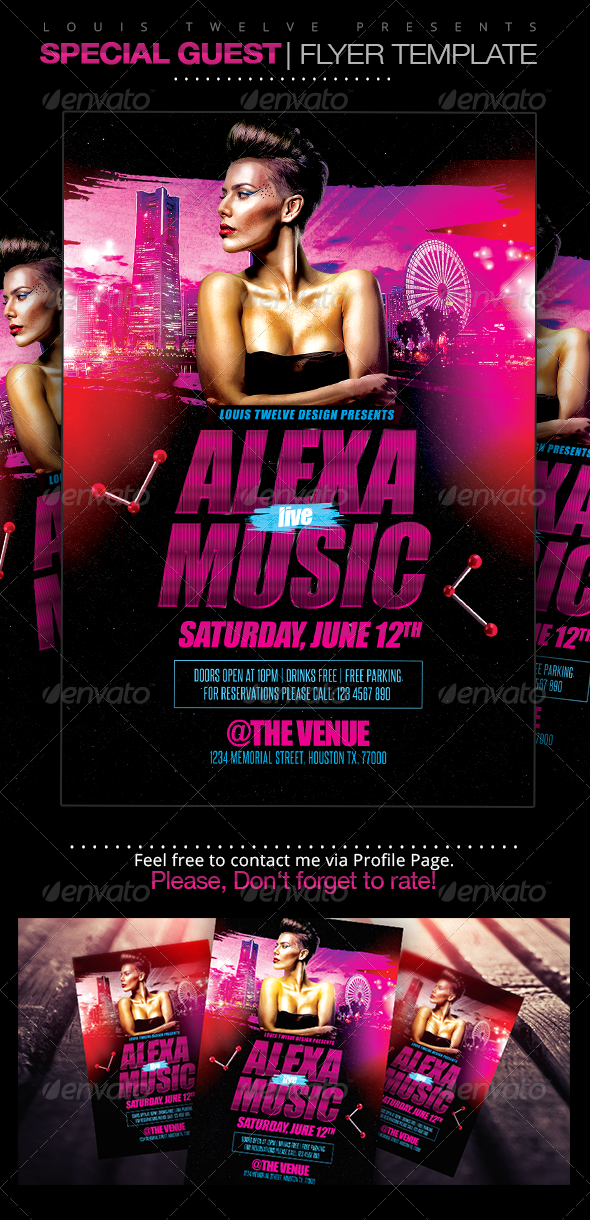Special Guest Dj | Flyer Template - Clubs & Parties Events
