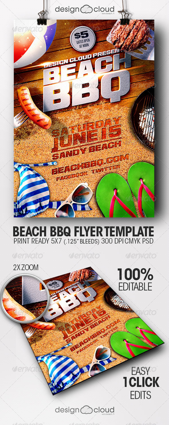 Bbq Flyer Graphic Design