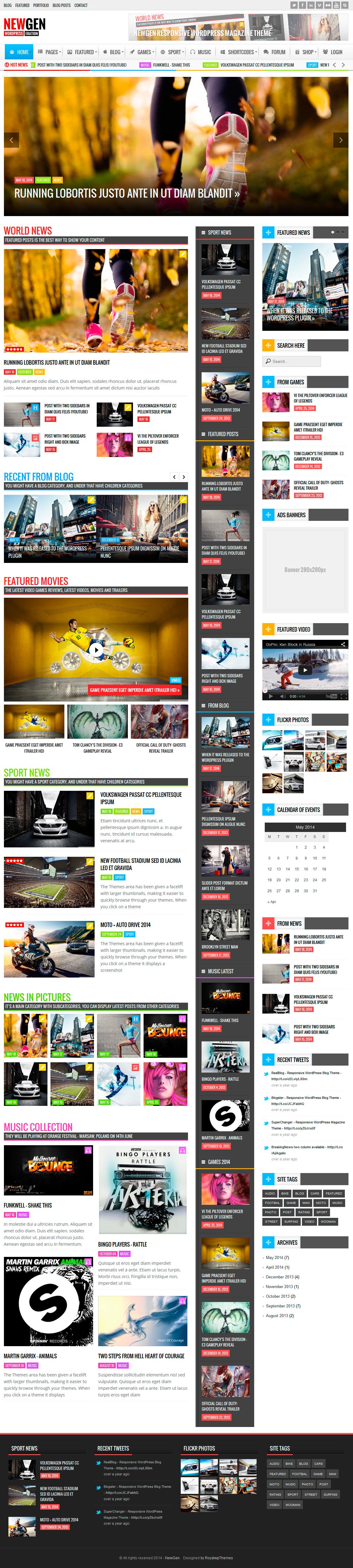 Newgen - Responsive News/Magazine WordPress Theme by RoyalwpThemes