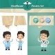 Doctors with Speech Bubbles Set - GraphicRiver Item for Sale