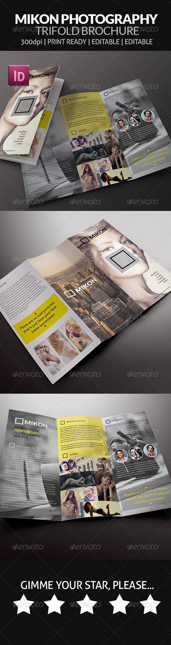 Mikon - Photography Trifold Brochure