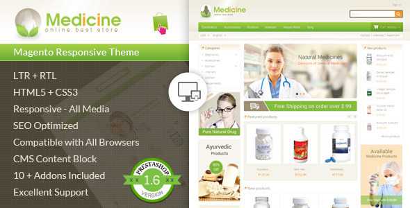 Medicine – Pharmacy Prestashop Theme