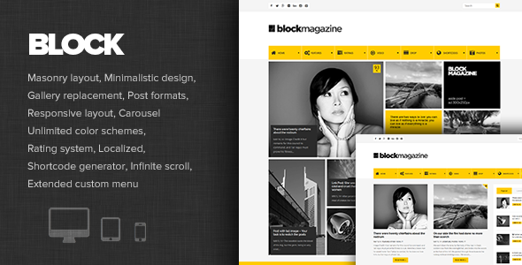 Block Magazine - Flat and Minimalist Blog Theme
