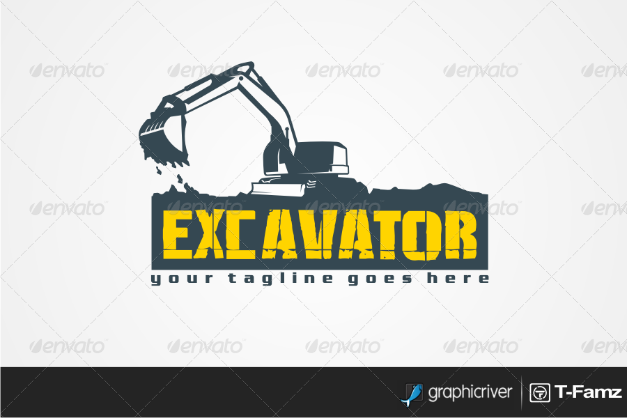 Excavator T Shirts By T Famz Graphicriver