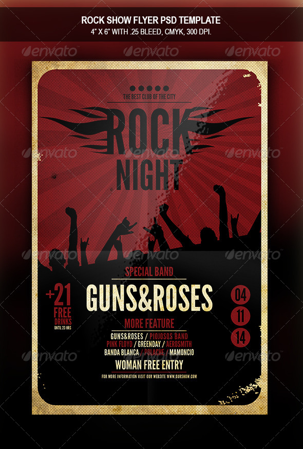 Rock Show  Flyer Template By Retrobox  Graphicriver