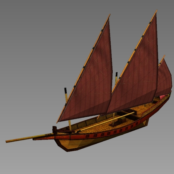 Age of Sail_Arabic Sail Ship - 3DOcean Item for Sale
