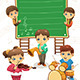 Kids Playing Music Poster - GraphicRiver Item for Sale