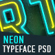 Neon Typeface (3 PSD, 88 PNG) - GraphicRiver Item for Sale