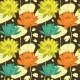Lotus Flowers in Seamless Pattern - GraphicRiver Item for Sale