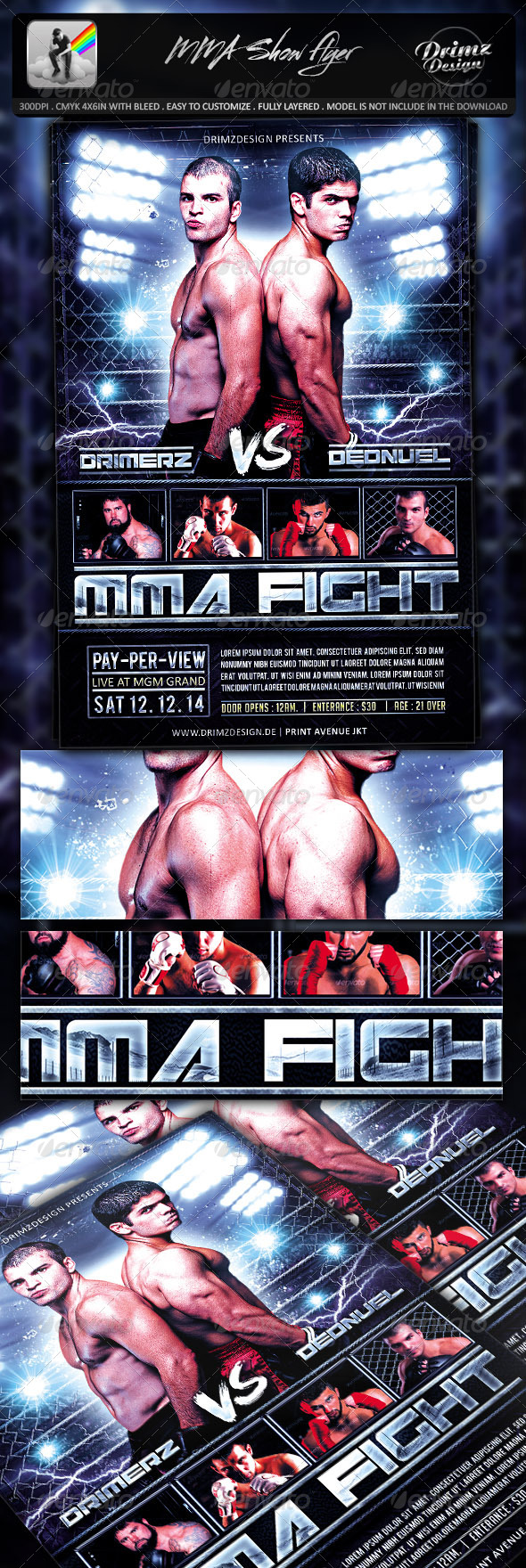 MMA Show Flyer - Sports Events
