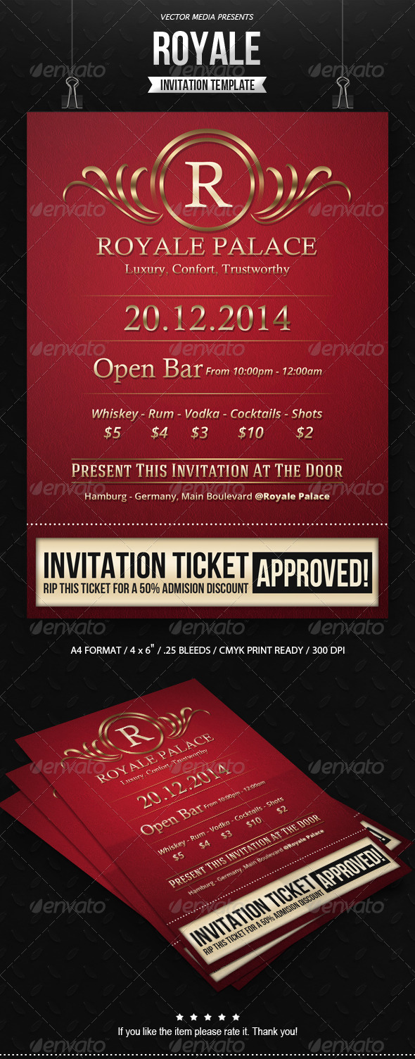 Print Invitation Templates from GraphicRiver (Page 7)