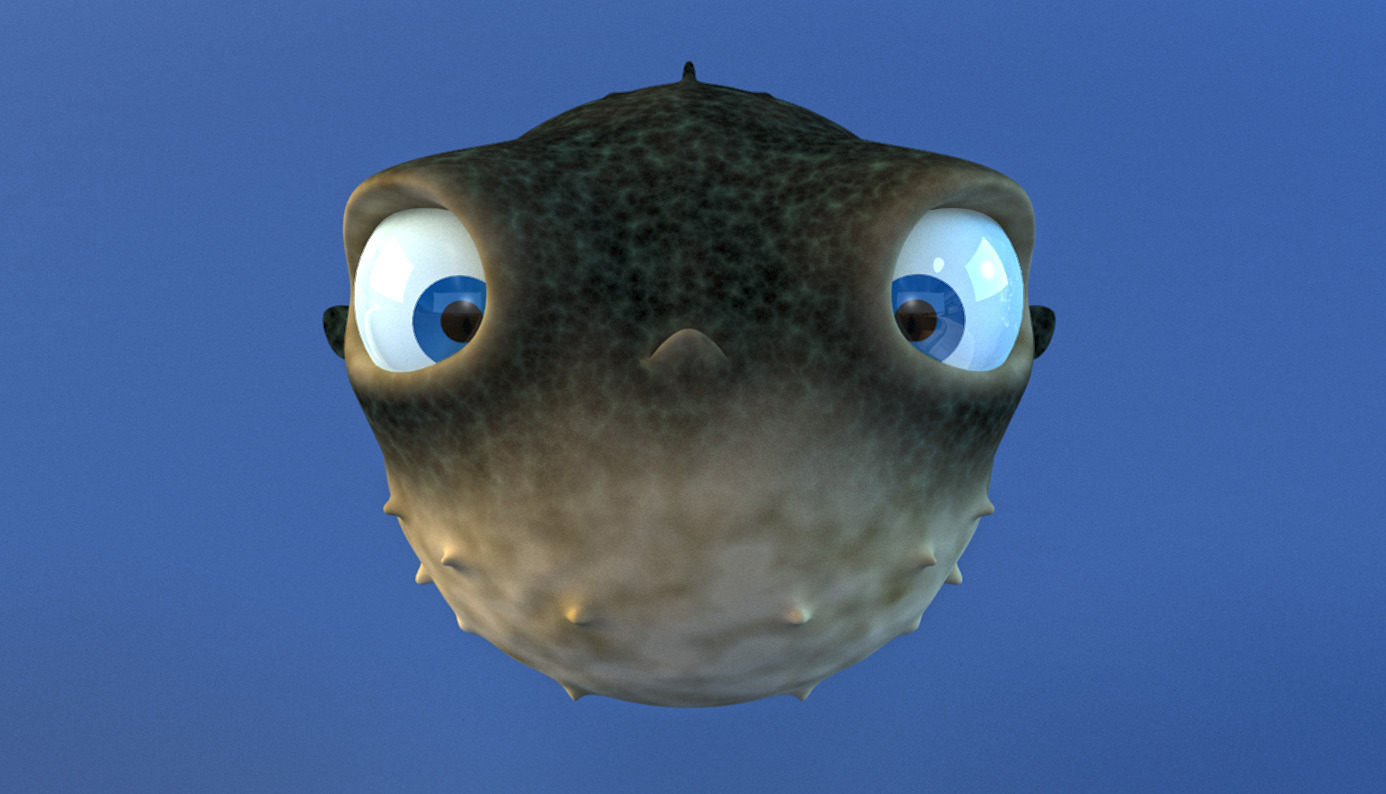 Cartoon Puffer Fish - Rigged by Wobblefin | 3DOcean