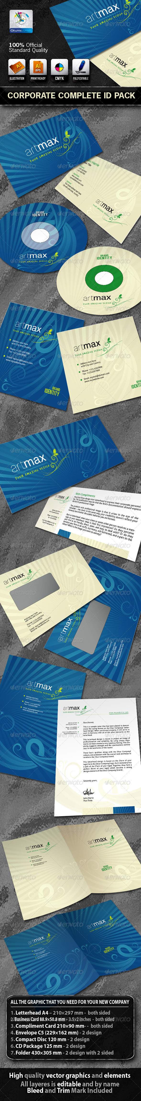 ArtMax Business Corporate ID Pack With Logo - Stationery Print Templates