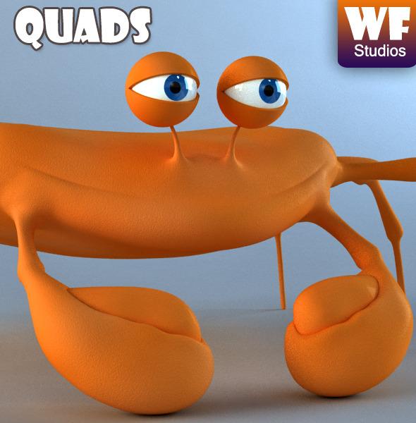 Cartoon Crab - 3DOcean Item for Sale