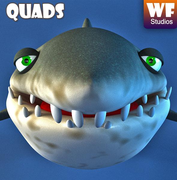 Cartoon Shark - 3DOcean Item for Sale