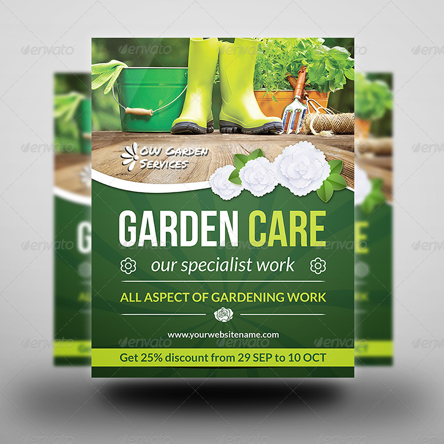 Garden services flyer vol 2 by owpictures graphicriver for Garden service