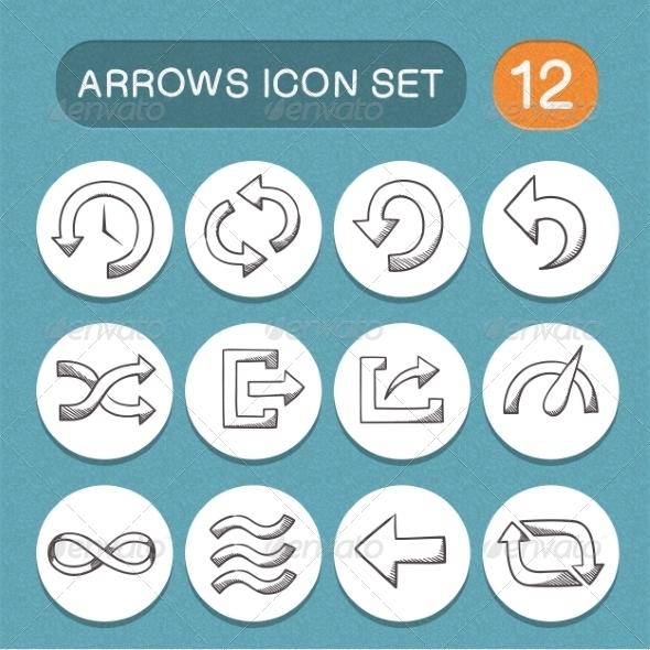 Arrows Symbols Set By Chuhastock Graphicriver