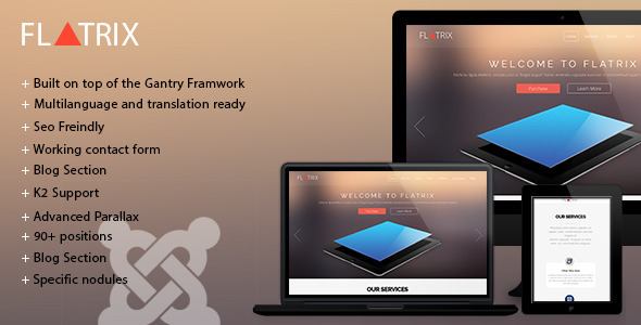 Flatrix – One Page joomla! template