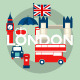 Illustration with Symbols of London - GraphicRiver Item for Sale