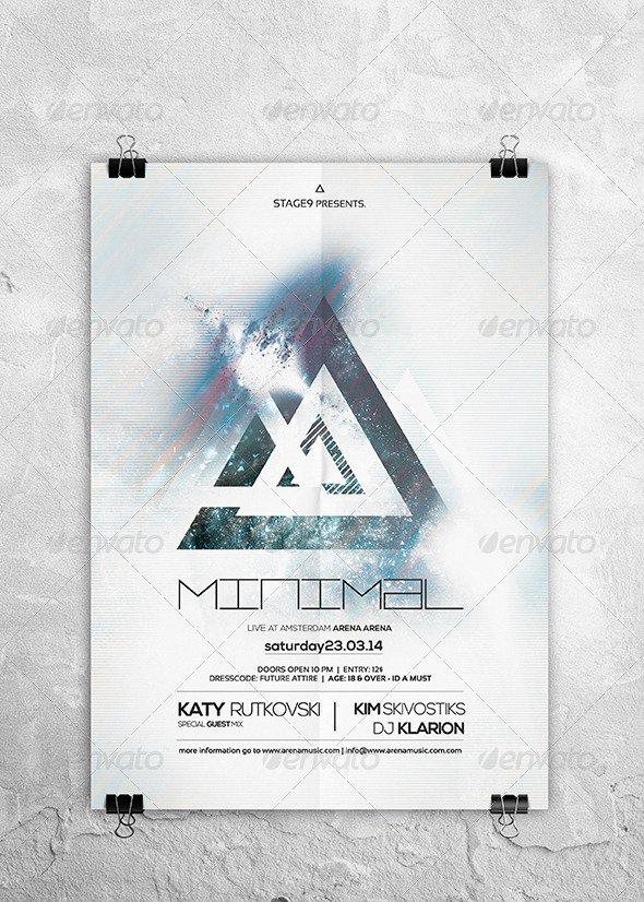 Minimalistic Flyer / Poster Vol. 01 - Clubs & Parties Events