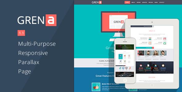 GRENA - Multi-Purpose Parallax Page