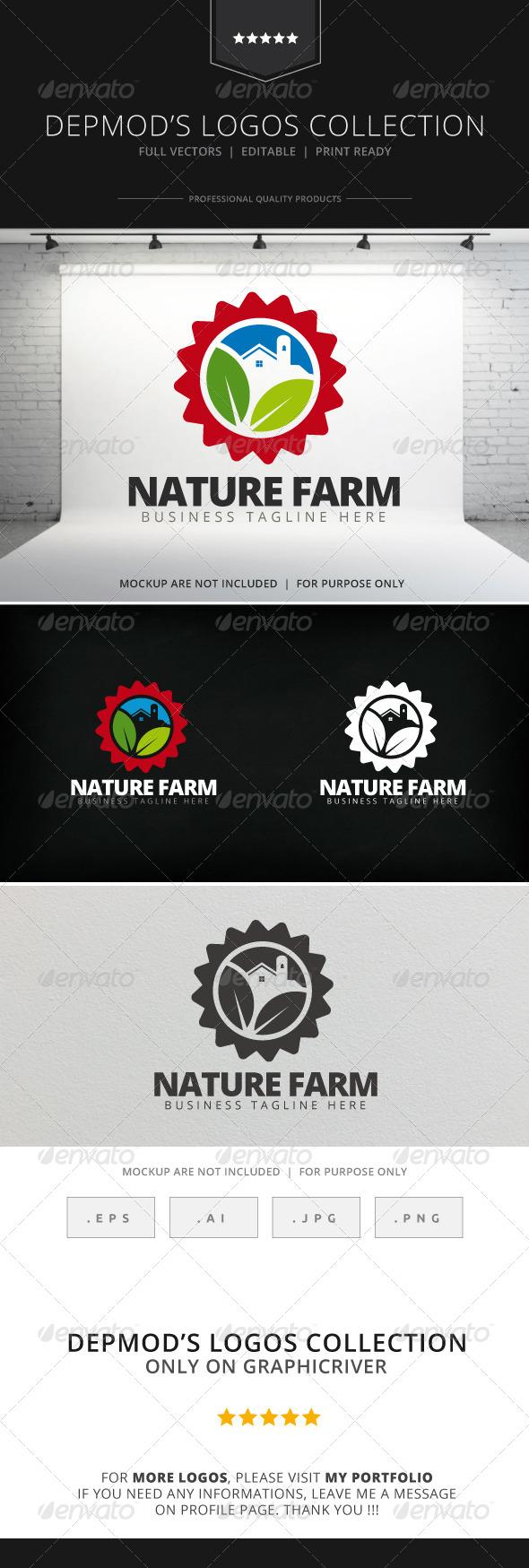 Nature Farm Logo - Nature Logo Templates