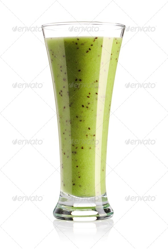 Kiwi smoothie - Stock Photo - Images