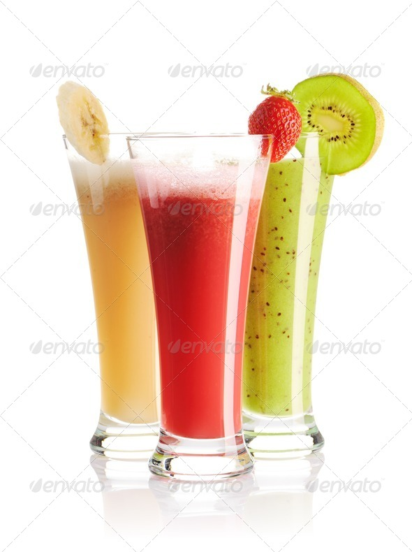 Smoothies isolated - Stock Photo - Images
